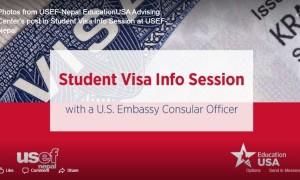 Student Visa Info Session at USEF-Nepal